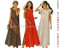 New Look 6229 Womens Loose Fit Maxi Dress Tent Dress size 8 10 12 14 16 18 Bust 31.5 - 40 Vintage Petite to Plus Size Sewing Pattern Uncut