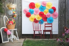 Paper Fan Backdrop | DIY Photo Booth Ideas For Your Next Shindig