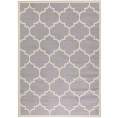 Ottomanson Contemporary Moroccan Trellis Gray 7 ft. 10 in. x 9 ft. 10 in. Area Rug - PTR1553-8X10 - The Home Depot