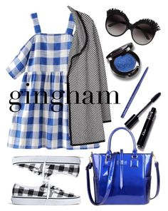 """Gingham Style"" by loves-elephants ❤ liked on Polyvore featuring Madewell, Joie, Christina Choi Cosmetics, NYX and gingham"