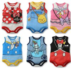 2013 children's clothing baby romper newborn bodysuit romper male ultra soft cotton Baby girls boys Mickey Minnie Kids Rompers -inGirls from...