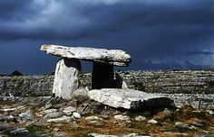 Poulnabrone dolmen - ~4500 years old - this site says it wasn't probably covered, my research said otherwise, but is now about a decade out, so?