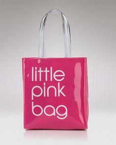 "Bloomies ""Littel Pink Bag"" for Breast Cancer awareness, gotta get one:)"