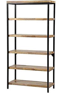 "Amazon.com: Anjou 5 shelf Bookcase, 72""Hx36""Wx16""D, NATURAL: Kitchen & Dining"