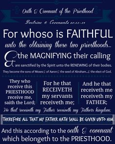 Oath & Covenant of the Priesthood