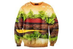 食意地全開! ハンバーガーセーター | roomie(ルーミー)