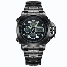 Stainless Steel Embellished Quartz Watch #CLICK! #clothing, #shoes, #jewelry, #women, #men