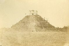El Castillo at Chichen Itza in 1860 from Cités et ruines américaines, by Eugène-Emmanuel Viollet-le-Duc  1863   Available http://www.gutenberg.org/   Read about Vic's adventures there in 1920!  http://www.vicplanet.com