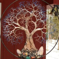 Wire Tree Of Life Grove Tree Spirits sculpture by CrowsFeathers, sold