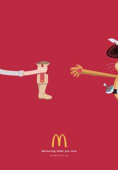 McDonald's livre les icônes de la pop culture dans une campagne print