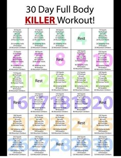 Timw to get into shape So I have been looking at all of these 30 day workout challenges and do it yourself at home stuff because of my busy schedule.well so I combined a few and designed my own 30 day full body workout plan! Fitness Workouts, Fitness Herausforderungen, Fitness Motivation, At Home Workouts, Health Fitness, Fitness Foods, Fitness Quotes, Prom Workouts, Two A Day Workouts