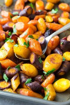 So EASY Simple Roasted Carrots are a yummy and healthy side dish for any meal!!!