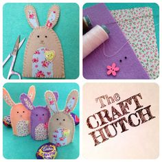 Sew Your Own Easter Bunny Egg Cosy by TheCraftHutch on Etsy