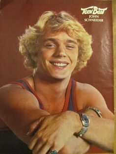 John Schneider, The Dukes of Hazzard, Full Page Vintage Pinup