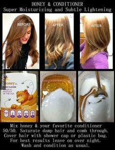 Pinterest @IIIannaIII  DIY Haaraufheller (für uncoloriertes Haar)