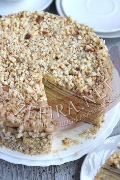 Торт на сковороде со сгущенкой - рецепт и фото