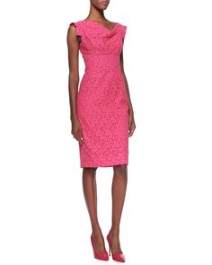 Black Halo—Jackie Lace Sheath Dress • pink❣ Neiman Marcus