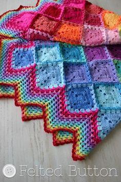 Harlequin Crochet Blanket Free Pattern