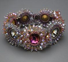 Handmade Beadwork Jewelry Inspiration Crystal Burst Bracelet by Laura McCabe Art