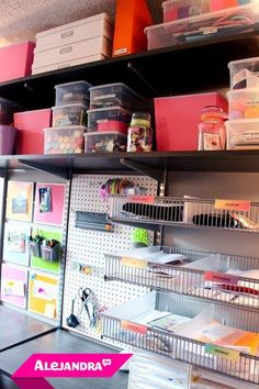 Organized Office Supplies Part 2 With Color Coded Binders Home Pinterest Organize Organizing And Organisation