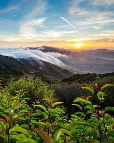 """Sunset """"clouderfall,"""" Malibu, CA ♡"""