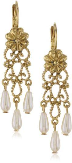 Antique Pearl Drop Earrings Couture, Pearl Drop Earrings, Filigree, Dangles, Fashion Jewelry, Pearls, Antiques, Pearl Earrings, Antiquities