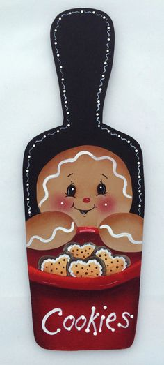 HP GINGERBREAD FRIDGE MAGNET mini Bread  Board