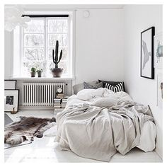 White spaces like this #white#design#interior#decor#chic#bedroom#cactus#fresh#minimal#tumblr#inspo#crush#homeinspo#fashion#style#trend#love#girls#potd#summer#openspace#city#dream#house#cosy#pretty#lavish