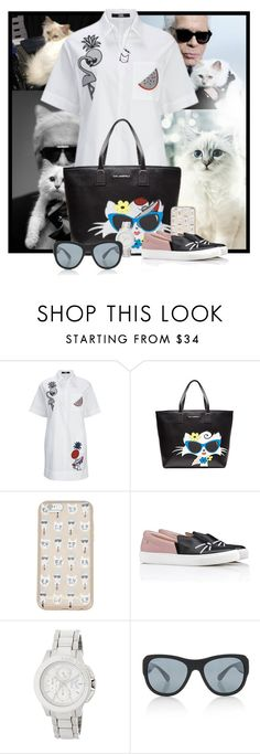 """Choupette"" by pusja76 ❤ liked on Polyvore featuring Karl Lagerfeld and Chanel"