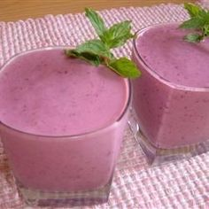 "Triple Threat Fruit Smoothie | ""Very simple and creamy smoothie that hits the spot. Plain yogurt works here as well."""