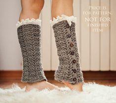 Crochet PATTERN for leg warmers (pdf file) - Luxury Leg Warmers. $4.99, via Etsy. - love, I wish I knew how to crochet!