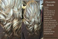 Chocolate blonde hair... I'm thinking this is what I want for always and especially the wedding