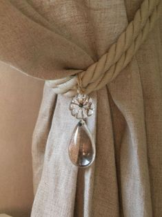 window tieback with rope .... little girls room                              …