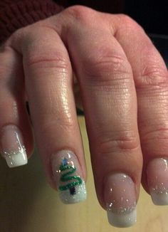 50 Festive Christmas Nail Art Designs - Christmas Tree Nail Art The Effective Pictures We Offer You About art deco border A quality pictur - Christmas Tree Nail Art, Christmas Nail Art Designs, Holiday Nail Art, Xmas Tree, Christmas Trees, Christmas Decorations, Modern Christmas, Winter Christmas, Beautiful Christmas