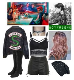 Designer Clothes, Shoes & Bags for Women Bad Girl Outfits, Cute Teen Outfits, Teenager Outfits, Edgy Outfits, Grunge Outfits, Outfits For Teens, Cool Outfits, Riverdale Merch, Riverdale Fashion