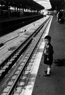 Robert Capa Tokyo Station April 18, 1954 Gelatin Silver Print Collection of Yokohama Museum of Art ©ICP / Magnum Photos