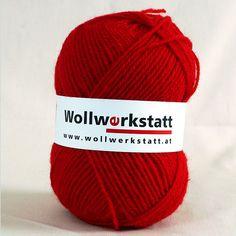Strickwolle aus 100% Schafschurwolle, für Nadelstärke 3-4, Lauflänge ca. 170 m, 100 g   Zur Herstellung unserer Strickwolle werden je zur Hälfte Österreichische und Portugiesische Wollen verwendet. Strickgarn perfekt zum stricken...