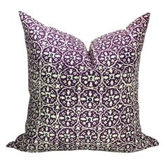 This listing is for one Nitik II Purple Navy on Tint pillow cover. DESCRIPTION Designer: China Seas Colors: Purple, navy, cream   DETAILS *All pillow