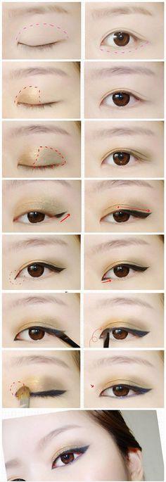 Golden Eye Make Up #eyeshadow #makeup