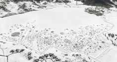 Snow Drawings Transform Frozen Lakes by Rebecca Horne (Storehouse)
