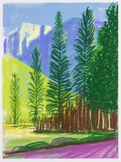 View Untitled by David Hockney on artnet. Browse upcoming and past auction lots by David Hockney. David Hockney Ipad, David Hockney Art, David Hockney Paintings, David Hockney Landscapes, Landscape Art, Landscape Paintings, Pop Art Movement, Ipad Art, Painting Wallpaper
