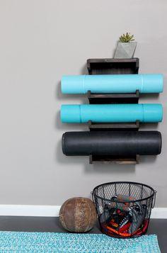 DIY Yoga Mat Rack