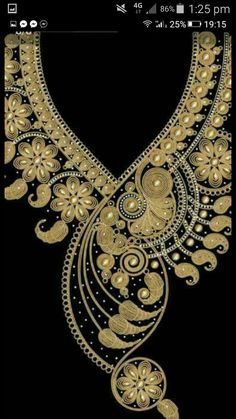 Details about Lace Embroidered Venise Neckline Neck Collar Trim Clothes Sewing Applique Border Embroidery Designs, Kurti Embroidery Design, Embroidery Fashion, Beaded Embroidery, Quilting Designs, Machine Embroidery Designs, Embroidery Patterns, Dress Neck Designs, Beaded Jewelry Designs