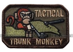 MilSpec Tactical Trunk Monkey Multicam USA Military Combat Army Morale Patch