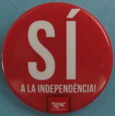 """""""Sí a la independència. JERC"""". Campanya de la Joventut d'Esquerra Republicana de Catalunya (JERC)"""