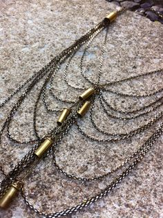 Bullet Bling Cascade Necklace by scarlettgarnet on Etsy