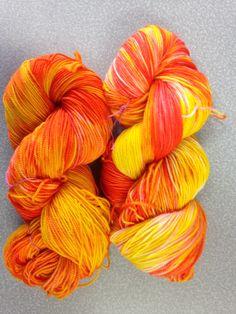 University Drive 2 ply sock yarn October 2014 Candy Corn