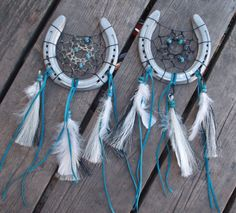 Dream catcher horse shoe
