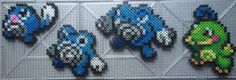 #060-#062, #186 Poliwag Family Perlers by TehMorrison