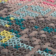 Gandia Blasco Canevas Flowers Rug | Patterned Rugs | Rugs | Living Room | Heal's